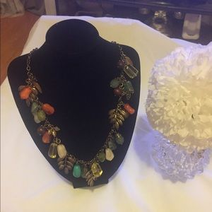 Beautiful multicolored statement necklace
